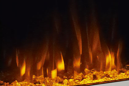 image of flame effect colour Deep orange