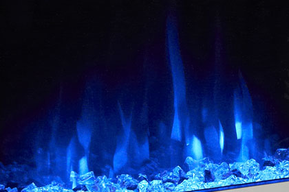 image of flame effect colour Crystal blue