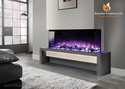 Fireplace Factory - Beautiful purple flame