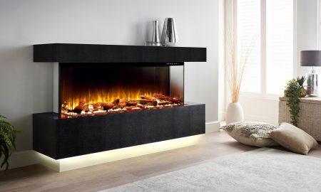Scatola Black electric fireplace