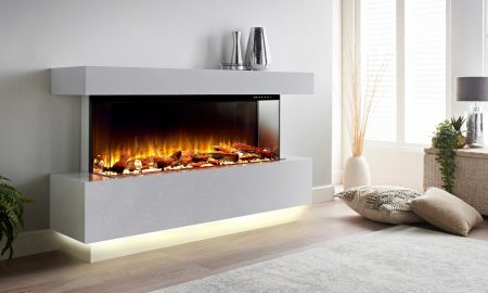 electric fire suite modern classic Scatola Grey