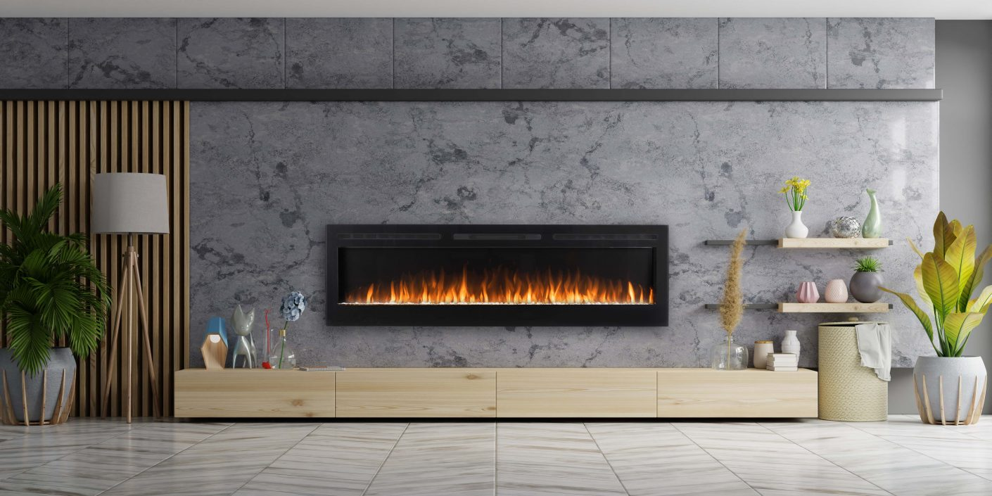 Bespoke Galaxy 72 electric fire suite