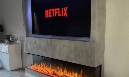 TV Fireplace Media Wall
