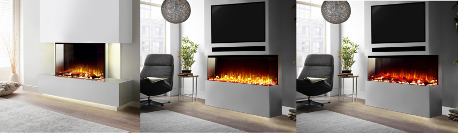 Bespoke Panoramic fireplace collection