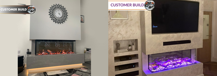 Fireplace Factory - Customer Bespoke Panoramic Builds